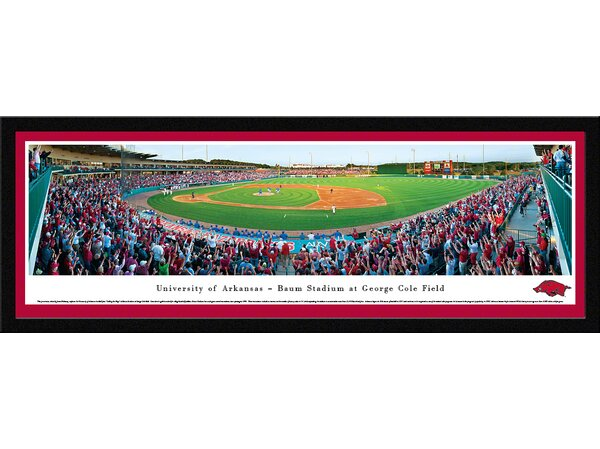 NCAA Arkansas, University of - Baseball by James Blakeway Framed Photographic Print by Blakeway Worldwide Panoramas, Inc