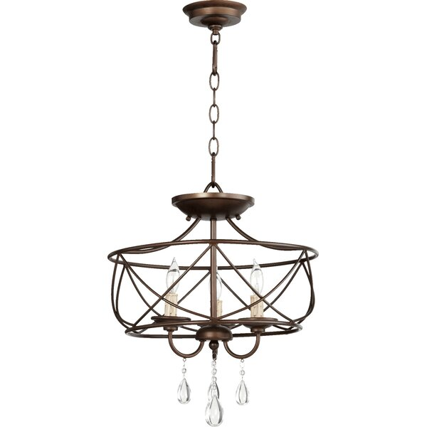 Madeira 3 - Light Lantern Geometric Chandelier By House Of Hampton