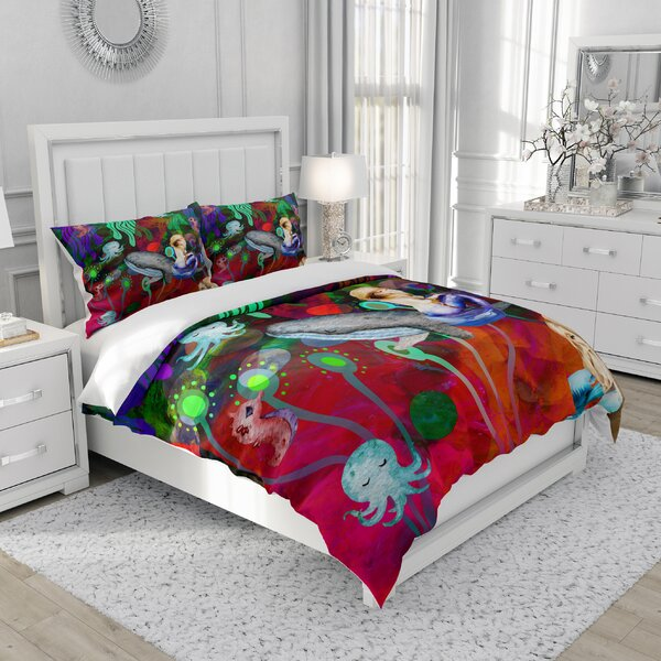 Febe Abstract Colorful Mermaid Duvet Cover Set