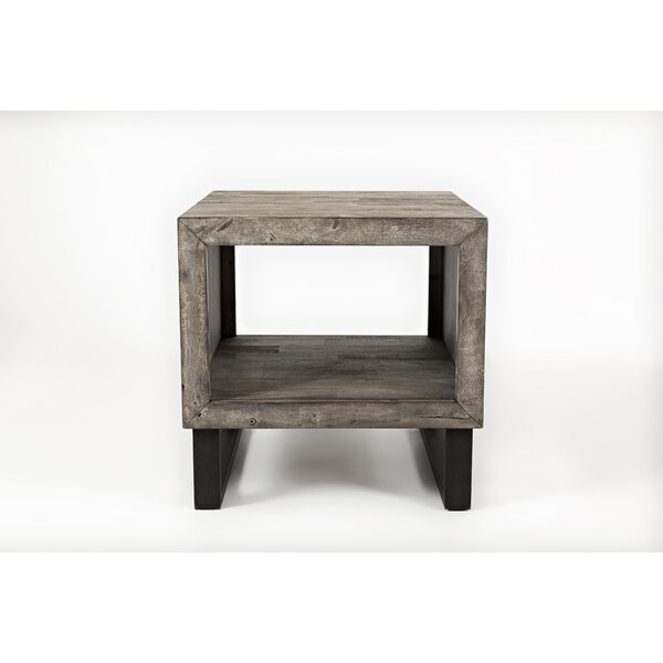 Conlon Wood and Metal End Table by Union Rustic
