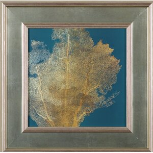 'Gold Coral I' Framed Graphic Art Print by Art Effects