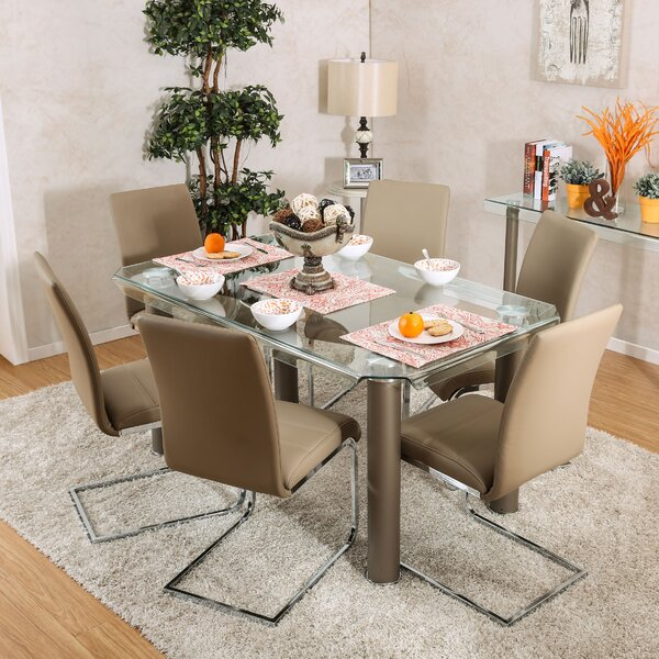 Heredia 7 Piece Dining Set by Latitude Run