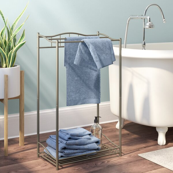 Free Standing Towel Stand by Rebrilliant