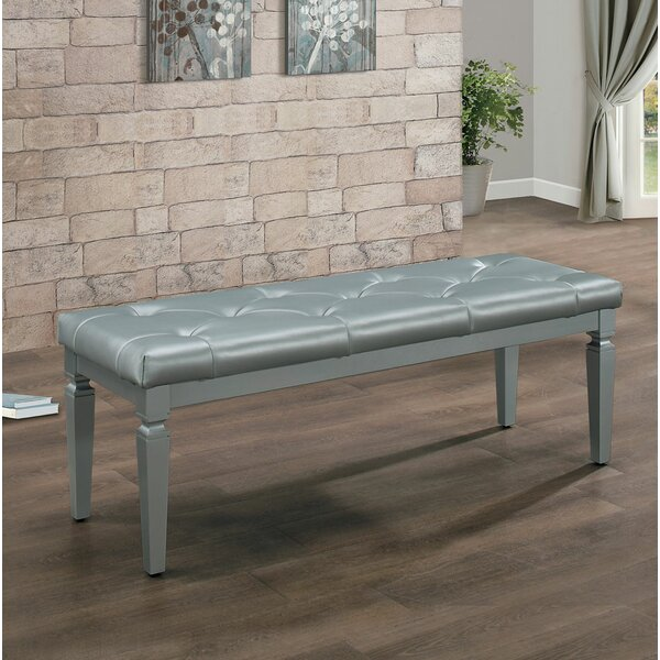 Kathline Faux Leather Wood Bench By House Of Hampton Great Reviews