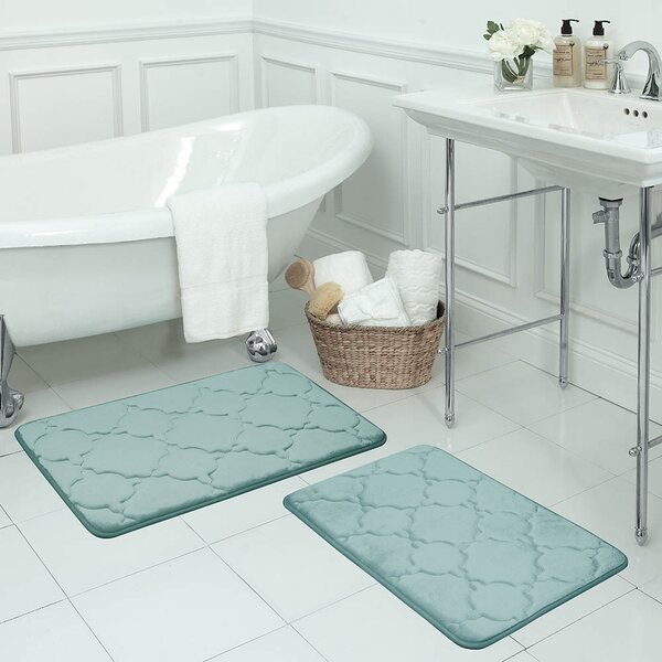 Mallon Large Premium Micro Plush Rectangle Memory Foam Non-Slip 2 piece Bath Rug Set (Set of 2)