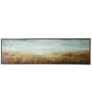 'Sunrise at the Shore' Framed Painting Print on Canvas by Rosecliff Heights