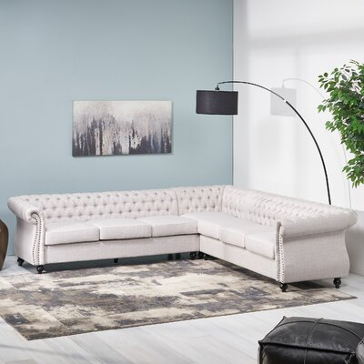 House Of Hampton Firth Symmetrical Sectional House Of Hampton Upholstery Color Beige Dailymail