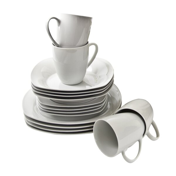 Simply Square 16 Piece Dinnerware Set, Service for 4 by Ten Strawberry Street