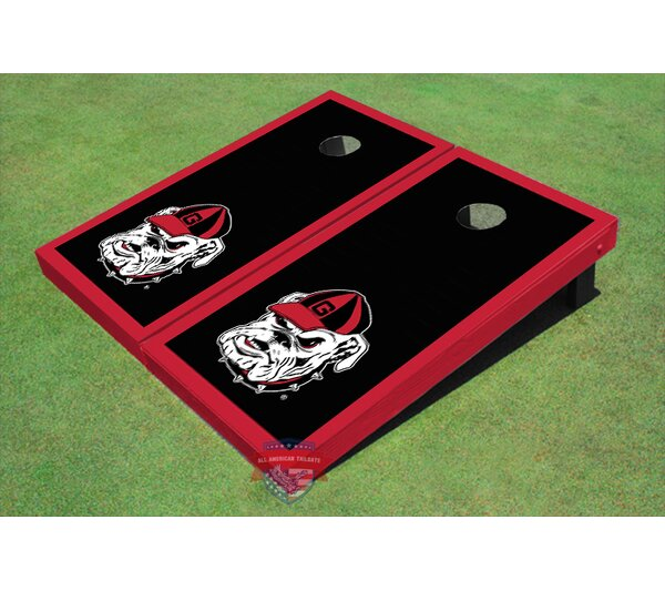 NCAA Hairy Dawg Border Cornhole Board (Set of 2) by All American Tailgate