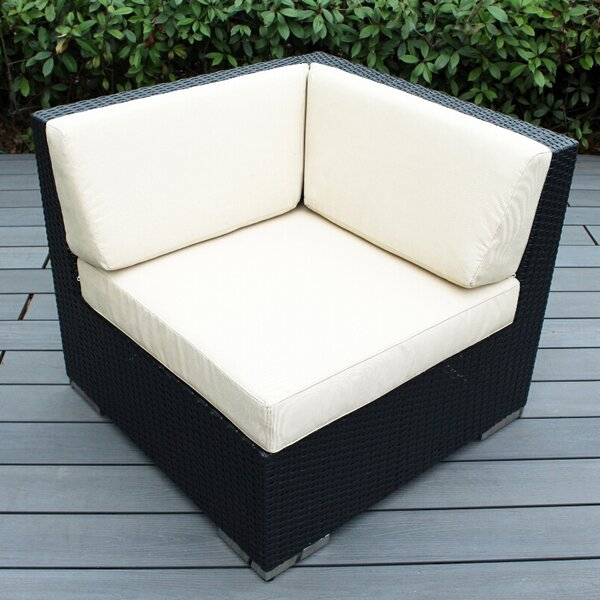 Baril Corner Chair with Cushions by Wade Logan