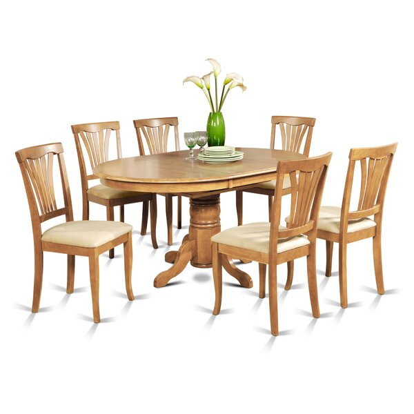 Square 7 Piece Dining Set by August Grove