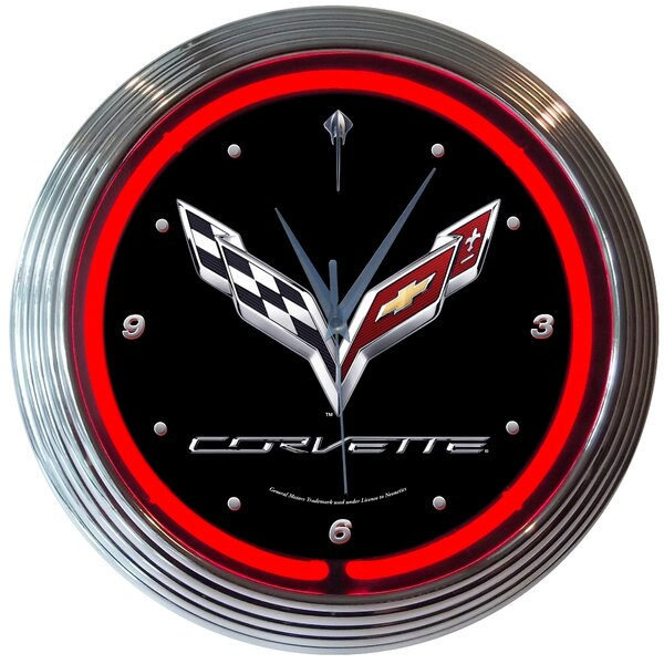 15 Corvette C7 Neon Wall Clock by Neonetics