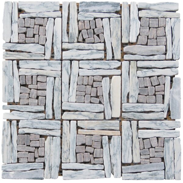 Landscape Wonder Random Sized Natural Stone and Granite Mosaic Tile in Gray by Intrend Tile