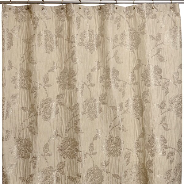 Embroidered Flower Shower Curtain by Famous Home Fashions