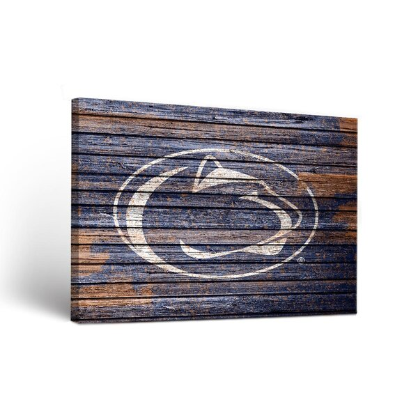NCAA Weathered Design Framed Graphic Art on Wrapped Canvas by Victory Tailgate