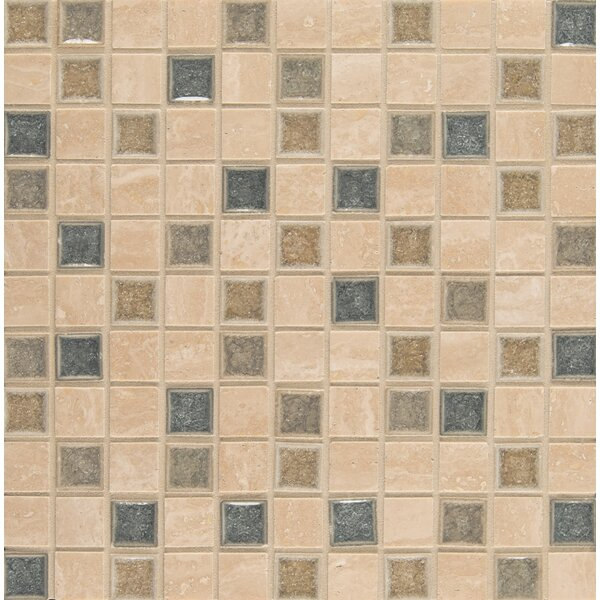 Kisment 1 x 1 Glass Mosaic Tile in Felicity by Bedrosians