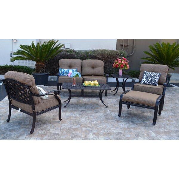Nola 6 Piece Sunbrella Sofa Set with Cushions by Darby Home Co