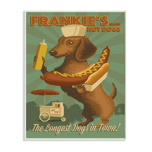 'Frankie's Hot Dogs Dachshund' Vintage Advertisement by Andover Mills
