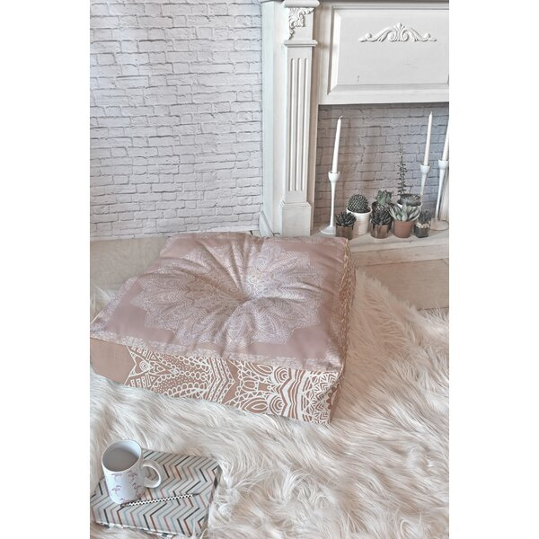 Rose Floor Pillow by East Urban Home