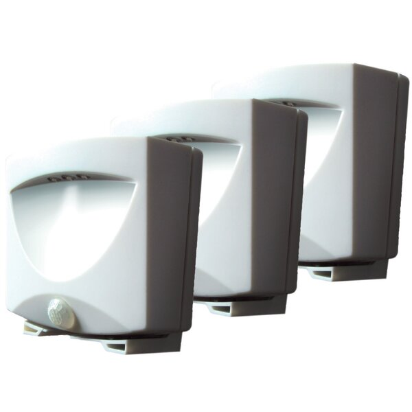 Battery-Powered Motion-Activated Indoor/Outdoor Night Light (Set of 3) by Maxsa Innovations