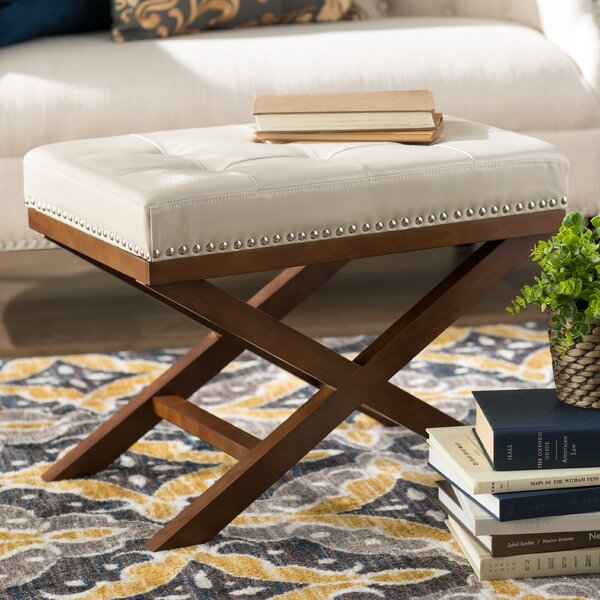 Lewiston Tufted Ottoman by Three Posts