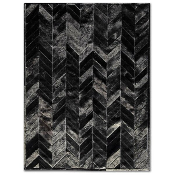 Patchwork Cowhide Yves Black Area Rug by Pure Rugs