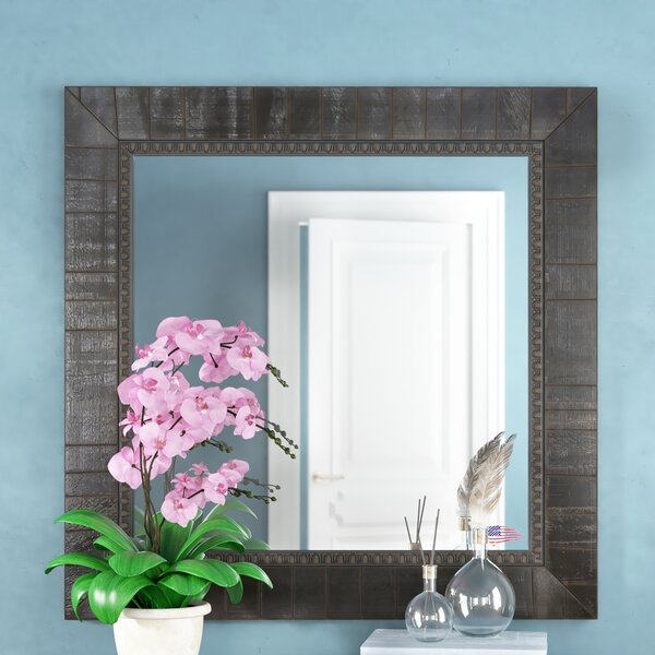 Square Black Wall Mirror by Darby Home Co