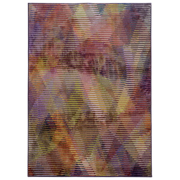 Prismatic Abstract Purple & Gold Area Rug by Pantone Universe