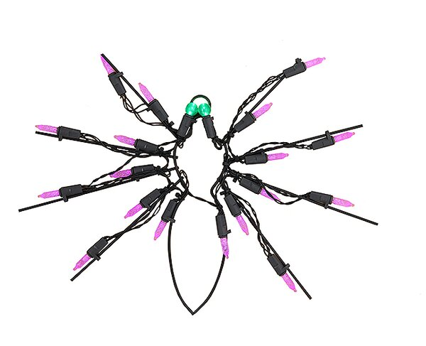 Battery Operated LED Spider Halloween Window Silhouette by Sienna Lighting