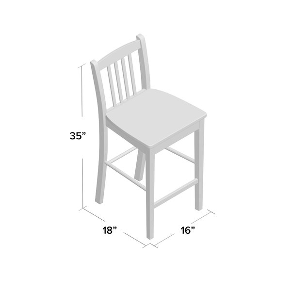 Amandes Counter Height 24 Bar Stool (Set of 2) by Alcott Hill