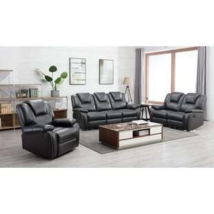 Demster 3 Piece Reclining Living Room Set by Latitude Run®