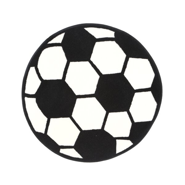 Fun Shape High Pile Soccerball Sports Area Rug by Fun Rugs