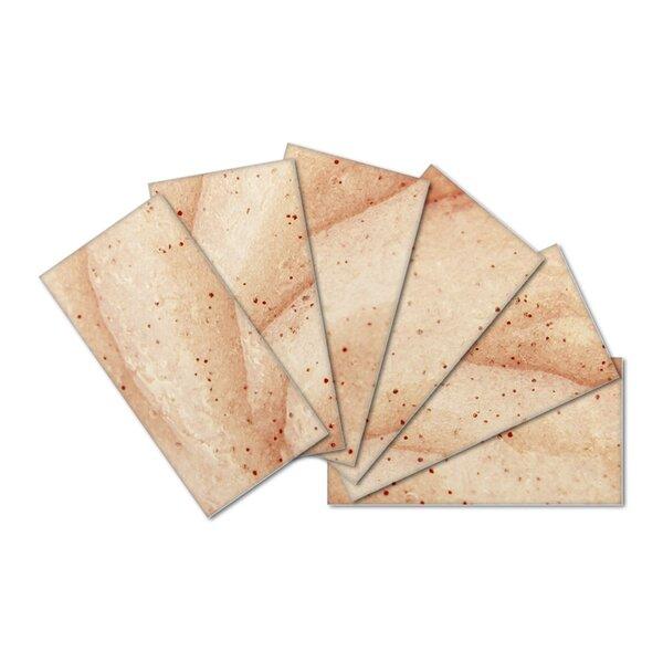 Crystal Skin 3 x 6 Glass Subway Tile in Brown/Cream by SkinnyTile