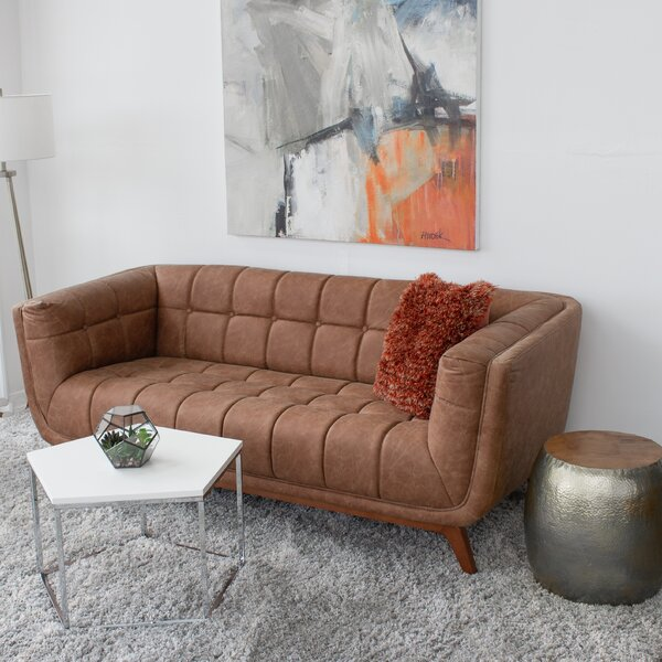 Price Compare Lupe Vintage Leather Sofa by Corrigan Studio by Corrigan Studio