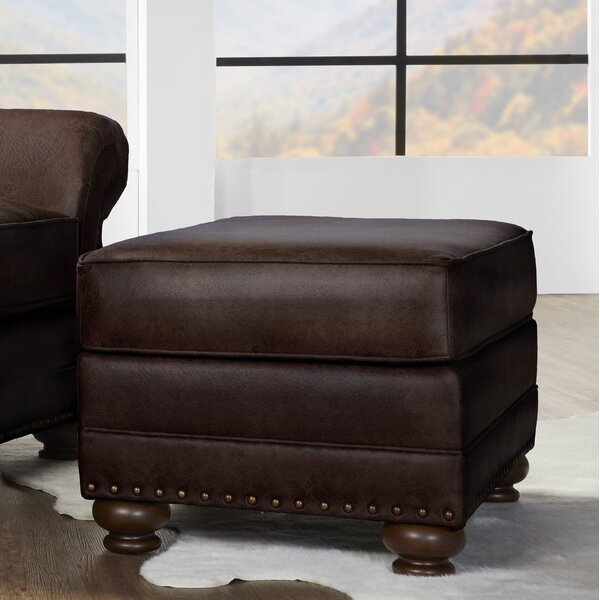Macalla Faux Upholstered Ottoman by Canora Grey