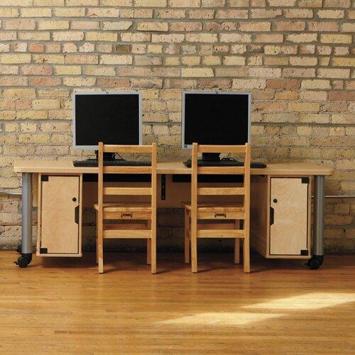 TrueModern Manufactured Wood 20 Student Computer Desk by Jonti-Craft