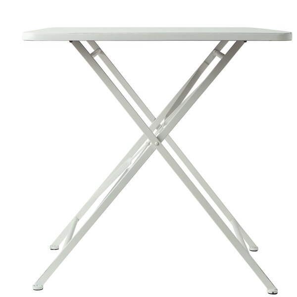 Imel Metal Folding End Table by Bungalow Rose