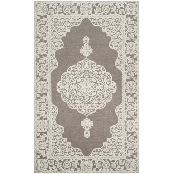 Marbella Hand-Woven Light Gray/Ivory Area Rug by Safavieh