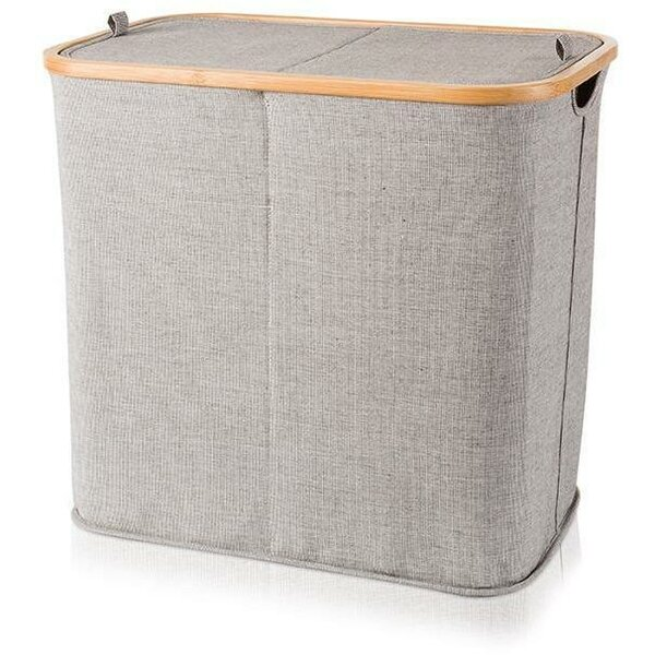 Bamboo Double Split Laundry Hamper with Lid by Union Rustic