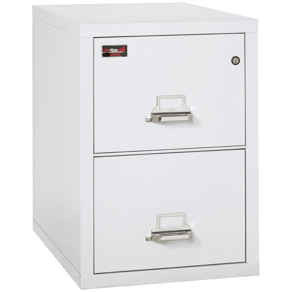 Fireproof 2 Drawer Vertical Filing Cabinet by FireKing