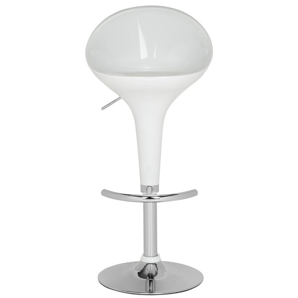 Anastasia Adjustable Height Swivel Bar Stool by Orren Ellis