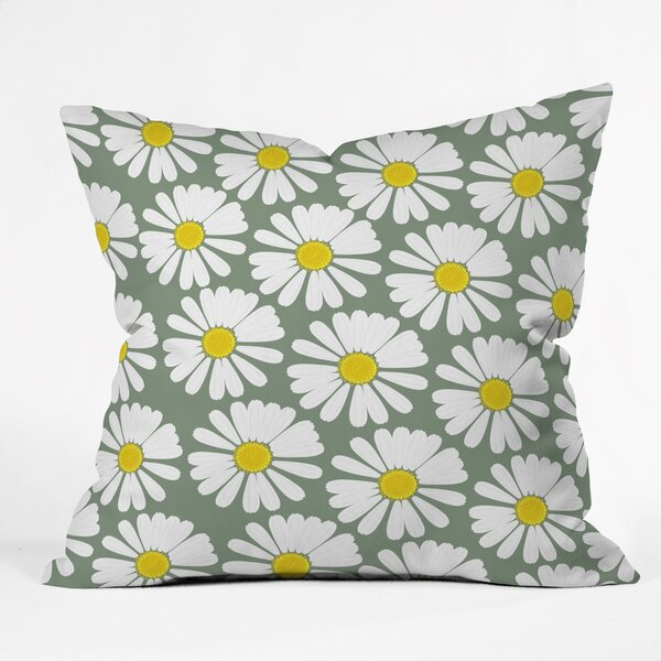 Georgiana Paraschiv Chamomile Throw Pillow by Deny Designs