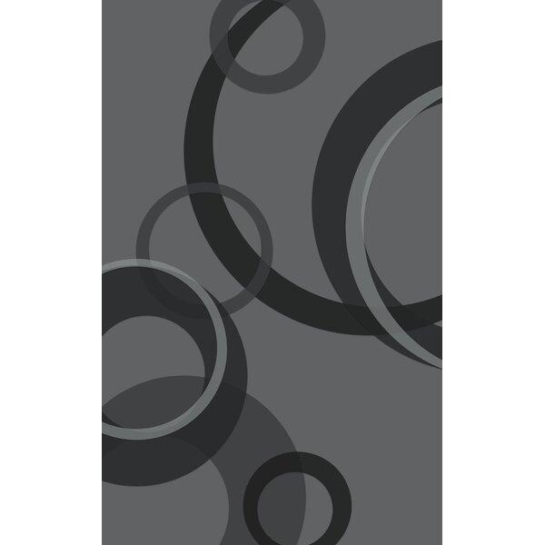 Jakarta Contemporary Geometric Gray Area Rug by Latitude Run