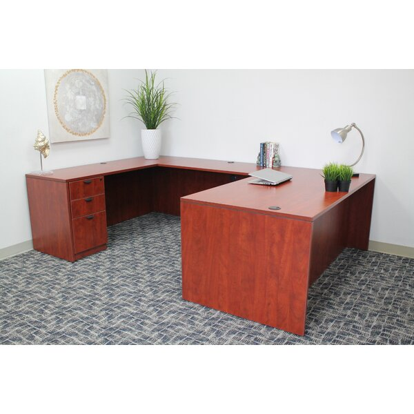 Debby Workstation 4 Piece U-Shape Desk Office Suite by Red Barrel Studio