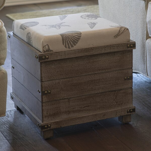 Read Reviews Hadley Weathered Storage Ottoman
