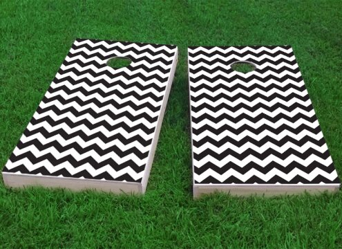 Chevron Pattern Cornhole Game (Set of 2) by Custom Cornhole Boards