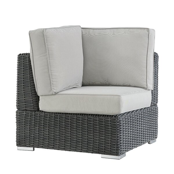 Rathdowney Wicker Outdoor Sectional Corner Chair with Cushion by Darby Home Co