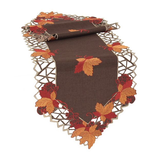 Harvest Hues Embroidered Cutwork Fall Table Runner by Xia Home Fashions