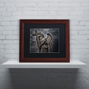 'Bernini's Statue of Angel' by Erik Brede Framed Photographic Print by Trademark Fine Art