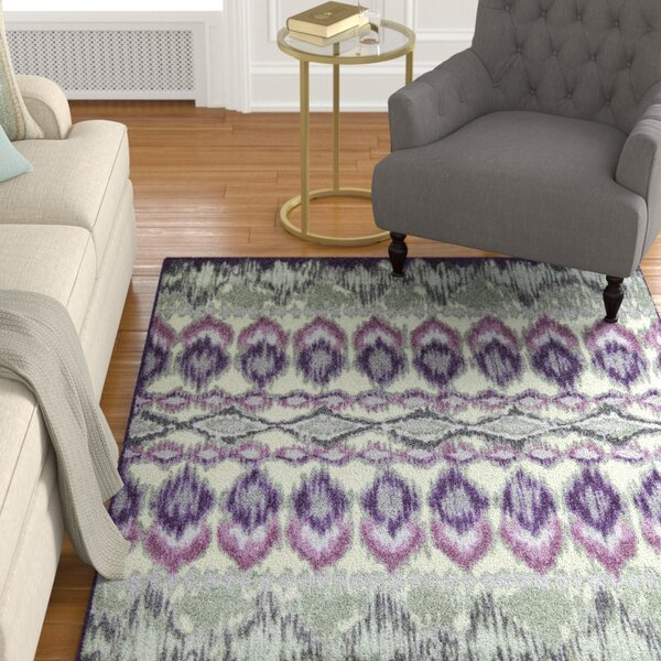 Hersey Purple Area Rug by Charlton Home
